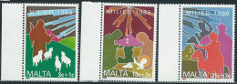 Malta 1988 Nuovo** - Mi.806/8  Yv.785/7 - Malta
