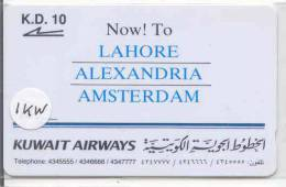 GPT (1 KWAA) Magnetic* Airline * Kuwait Airways Lahore Alexandria - Amsterdam Kuweit (1) - Koweït