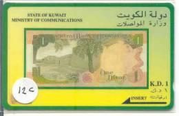 GPT (12c) BANKNOTE K.D. 1 * TELECARTE KUWAIT * KOWEIT - Koweït