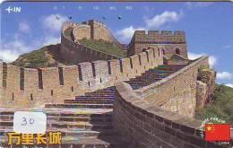 Télécarte CHINE Reliée (30)  Phonecard CHINA  * Telefonkarte CHINA Verbunden - Japan * CHINESE WALL - MUR CHINOIS - Chine