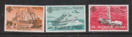 Seychelles Zil Eloigne Sesel 1982 Work Boat Set 3 MNH - Seychelles (1976-...)