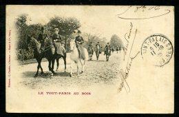 75 - Le Tout Paris Au Bois - ANIMÉE - CARTE PRÉCURSEUR DE 1905 - Parks, Gardens