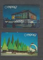 Deux Cartes Pour La France Exposition 1967 Montreal - Montreal