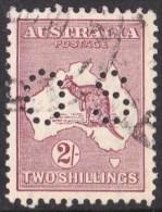 Australia 1916 Kangaroo 2 Shillings Maroon 3rd Wmk Perf OS Used - - 1913-48 Kangaroos