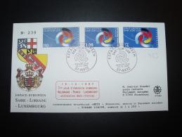 ALLEMAGNE FRANCE METZ EMISSION COMMUNE  LUXEMBOURG SAR-LOR-LUX SESSION  20.10.1997 CONSEIL EUROPE TIRAGE LIMITE 250 Ex. - Emissions Communes