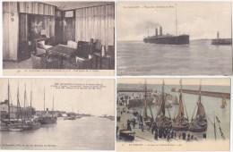 FRANCE - Lot De 4 Cartes - THEME BATEAUX - Sannérs Recto Verso - - Cartes Postales