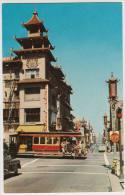 San Francisco : LINCOLN CONTINENTAL ´47, STREETCAR/TRAM- Cathay House, China Town - USA - Turismo