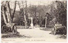 Cpa Anduze, Parc Des Cordeliers (entrée) (canons) - Anduze