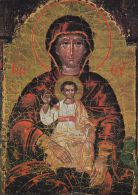 Carte , RELIGIONS , CHRISTIANISME , La Madonne (Grec) Trônant - Maagd Maria En Madonnas
