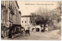 Cpa Anduze, Plan De Brie, Centre De La Ville - Anduze