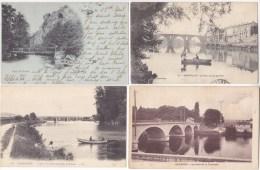 FRANCE - Lot Des 4 Cartes - THEME Sur Les PONTS - Scannées R° / V° - - Cartes Postales