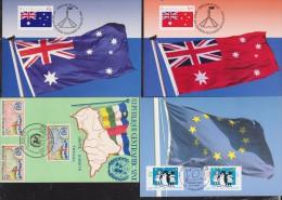 AUSTRALIE+CENTRAFRICAINE+ FRANCE   CARTE  DRAPEAUX  Réf  4481 - Covers