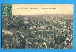 CP, 89, AUXERRE, Vue Générale - L'Horloge Et Saint Eusèbe, Voyagé En 1908 - Auxerre