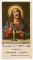 Vicopò - Santino Depliant RICORDO COMUNIONE PASQUALE 1953 Parroco Don Aldino Zatti - F40 - Religione & Esoterismo