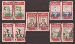 MA325-L4052TRI.Maroc. Marocco.MARRUECOS     ESPAÑOL PRO TUBERCULOSOS. 1950 (Ed 325/9**) Sin Charnela.MAGNIFICA. - Islam