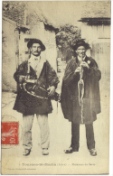 ( 36 ) TOURNON ST MARTIN Musiciens Du Berry .  -TB E-  CIRCULEE   1919 (2 Scanns) - France