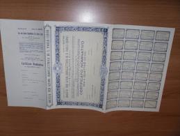 SCRIPOFILIA CERTIFICATO AZIONARIO SOCIETà PER AZIONI IDROELETTRICA DI S.PAOLO CERVO 1922 - Electricité & Gaz