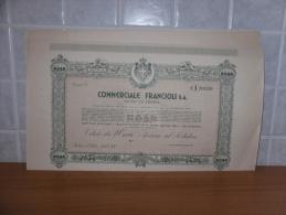 SCRIPOFILIA CERTIFICATO AZIONARIO INTRA COMMERCIALE FRANCIOLI 1937 - Azioni & Titoli