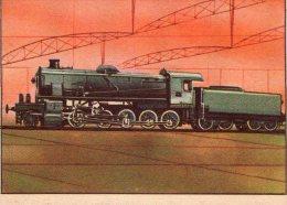 FIGURINA  INTREPIDO , Locomotiva  F. S.  480  , Treno - Altre Collezioni