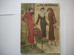 AU PRINTEMPS CATALOGUE HIVER 1935-36   66 PAGES - Publicités