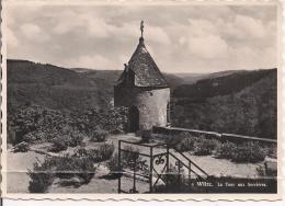 WILTZ,  La Tour Aux Sorcières , BLANC NOIR Carte Illustrée 1960 Utilisées Pour L'Italie, Timbre> THEATRE FESTIVAL 1960 - Wiltz