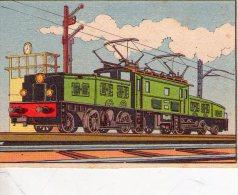 FIGURINA  INTREPIDO , Locomotiva  Il Coccodrillo    , Treno - Altre Collezioni