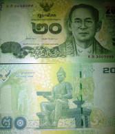 O) 2013 THAILAND, BANKNOTE 20 BAHT, BHUMIBOL ADULYADEJ-KING-RAMA IX,ANANDA MAHIDOL-RAMA VIII,UNCIRCULATED - Thailand