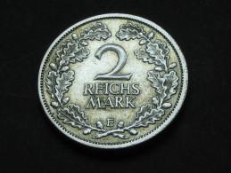 2 Reichs Mark 1926 E - Allemagne - Germany Weimar Republic - [ 3] 1918-1933 : Weimar Republic