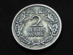 2 Reichs Mark 1926 D - Allemagne - Germany Weimar Republic - [ 3] 1918-1933 : Weimar Republic