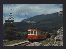 CPM Chemin De Fer YVERDON-SAINTE CROIX (Ste) Train Sur Les Rapilles De Baulmes YSteC - Réf A2982 - Trains