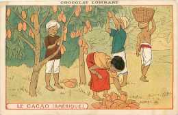 Pays Divers -ref A384- Chocolat Lombart - Le Cacao - Amerique  -carte Bon Etat  - - Cartes Postales