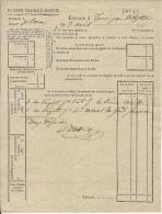 POSTE . PETITE FEUILLE D'AVIS .BUREAU DE ROME 1810 - Documents Historiques