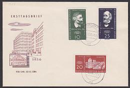 FDC 545 - 547 110 Jahre Carl-Zeiss-Werke Ernst Abbe Tagesstempel Erfurt - DDR
