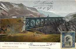 Pays Divers -ref A372- Perou - Peru - Ferro Carril Central Del Peru -puente De Viscas -carte Bon Etat   - - Pérou