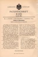 Original Patentschrift - Dr. Von Tietzen In Pianowko B. Czarnikau / Czarnków , 1902 , Halter Für Weihnachtsbaum !!! - Decorative Items