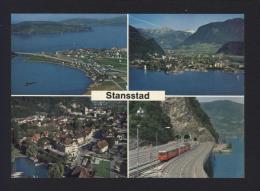 CPM STANSSTAD Am Vierwaldstättersee Mit Bahn Suisse / Switzerland / Schweiz / Helvetia - Réf A2987 - NW Nidwald