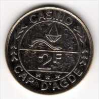 Jeton De Slot Machine à Sous : Casino Cap D´Agde 2F - Casino
