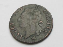 1/2  Sol Ou 1/2 Sou 1791 B (ROUEN) - Louis XVI