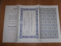 SCRIPOFILIA CERTIFICATO AZIONARIO SOCIETà ANONIMA FABBRIFICAZIONE DEI FEZ MORTARA 1920 - Azioni & Titoli