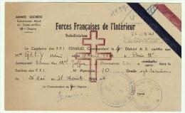 Forces Françaises De L´Intérieur - Armée Secrète - 13° District De S&O - Certificat D´un Combattant D'Ermont - Dokumente