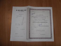 SCRIPOFILIA CERTIFICATO AZIONARIO CERTIFICATO NOMINATIVO TORINO 1925 - Azioni & Titoli