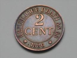 2 Centimes 1886 A - An 83 - République D´Haiti. - Haití