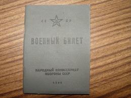 RUSSIE URSS CCCP 1940 - Documents Historiques