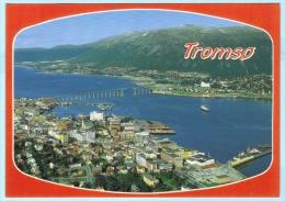 NORWEGEN - Tromso - Schiffe - Brücke - Berge - Wasser     (2 Scan) (5547AK) - Norway