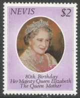 Nevis. 1980 80th Birthday Of Queen Elizabeth The Queen Mother. $2 MNH - St.Kitts And Nevis ( 1983-...)