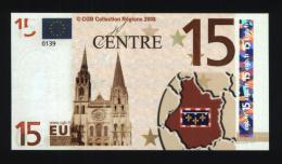Billet 15 € Région Centre / France (art.N° 12) - EURO