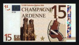 Billet 15 € Région Champagne Ardenne / France (art. N° 13) - EURO
