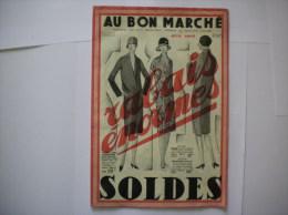 AU BON MARCHE CATALOGUE JUIN 1927 SOLDES 22 PAGES - Publicités