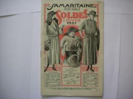 LA SAMARITAINE CATALOGUE 1921 SOLDES D'HIVER - Publicités