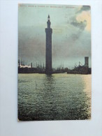 Carte Postale Ancienne : Royal Dock & Tower By Moonlight , GRIMSBY , Stamp 1904 - Inghilterra